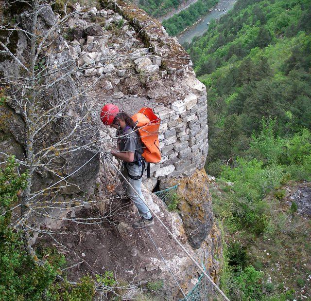 Muret terrasse Gorges Jonte
