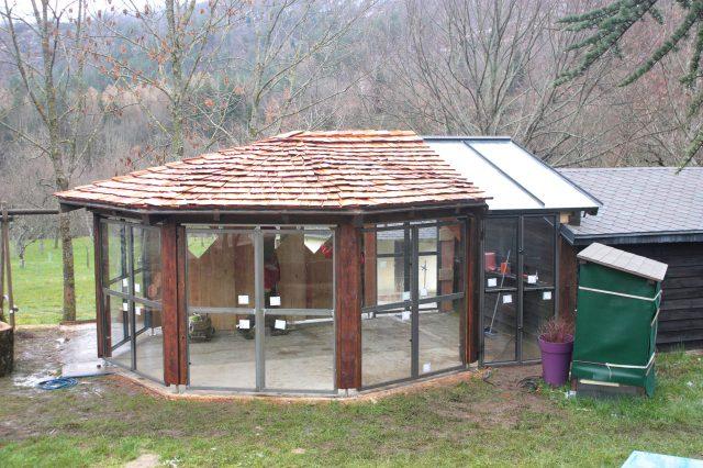 Cabane vitrée camping de Vébron